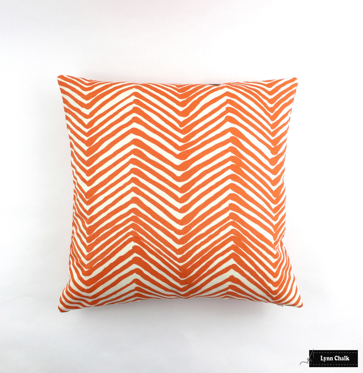 Quadrille Alan Campbell Zig Zag Pillow In Orange On Tint