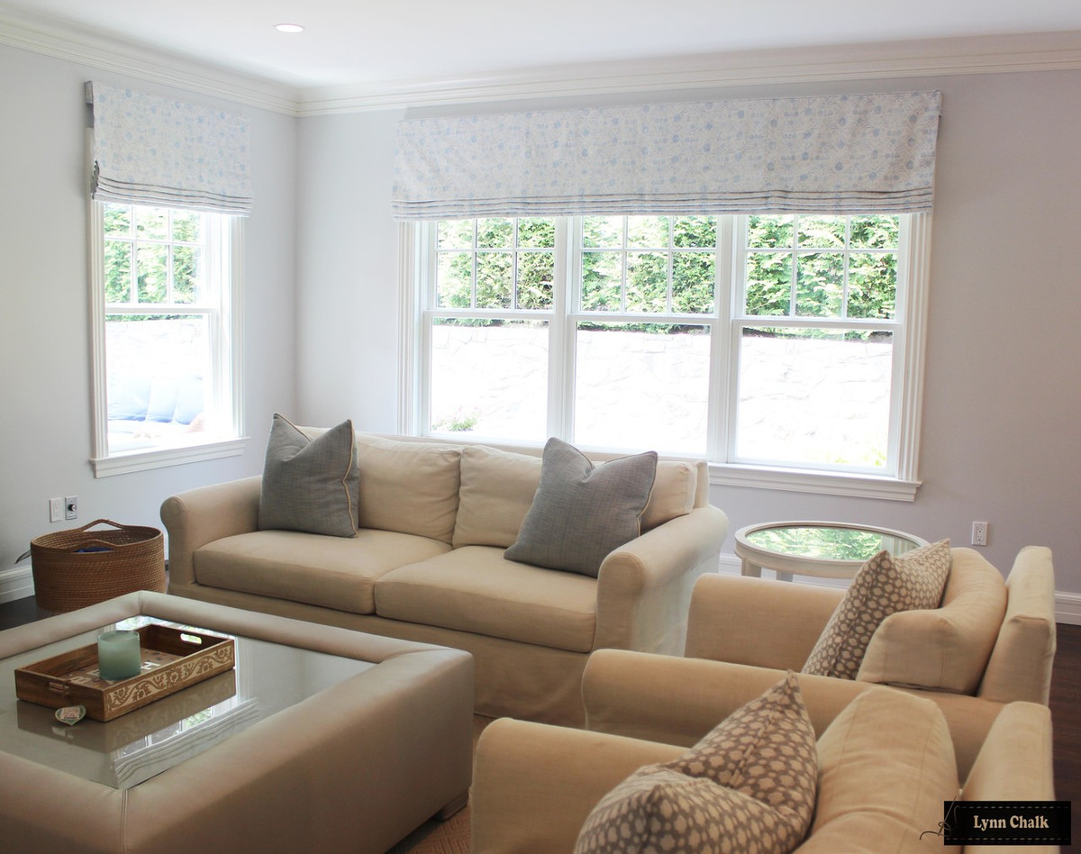 Zak Fox Khotan Roman Shades In Living Room