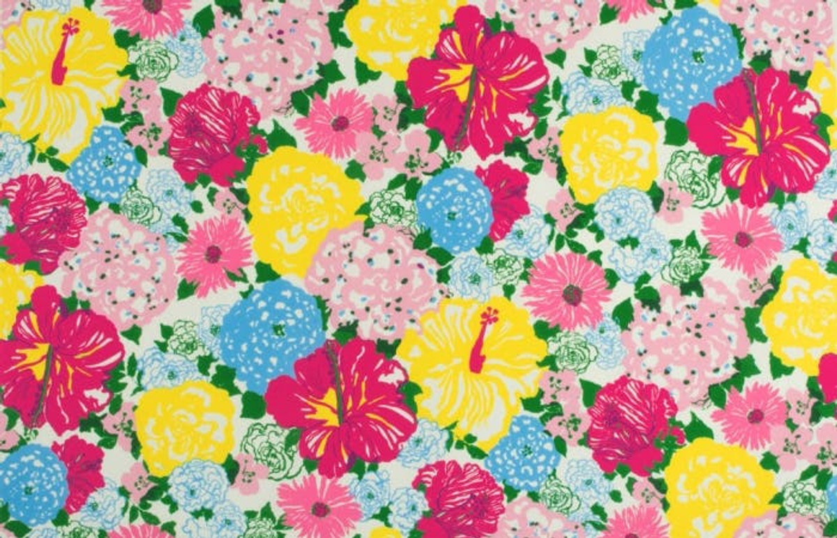 cb7a1918169192 2016103_573 Lilly Pulitzer Heritage Floral II Multi Indoor Outdoor Fabric  ...