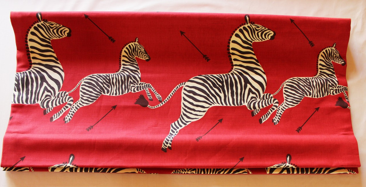 Scalamandre Zebras Fabric Masai Red 2 Yard Minimum Order