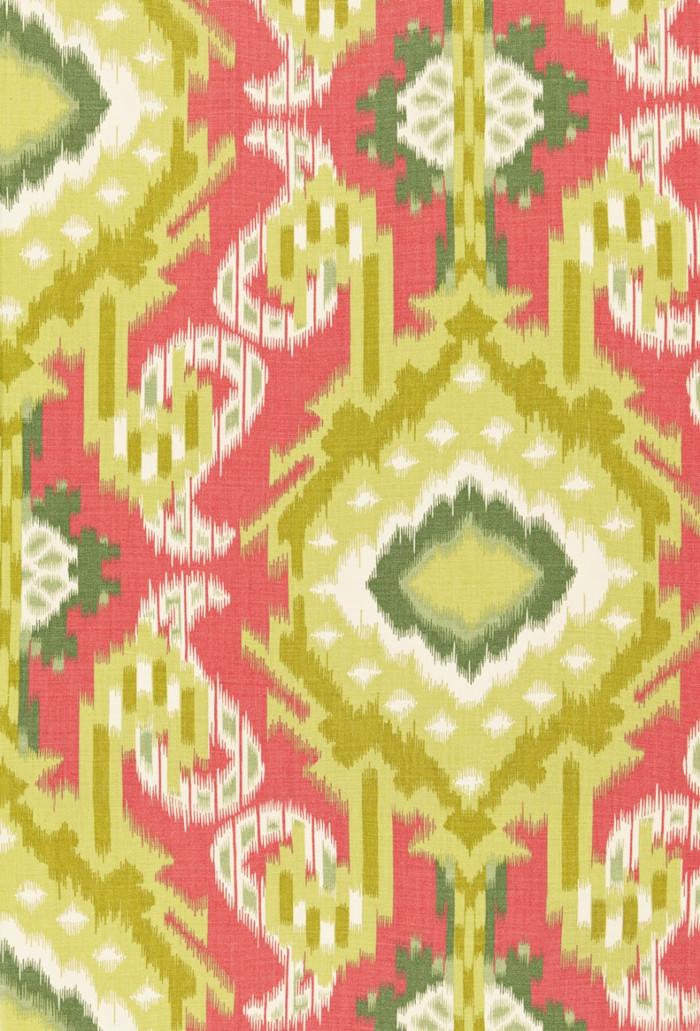 Schumacher Kiribati Ikat Print Coral 174980