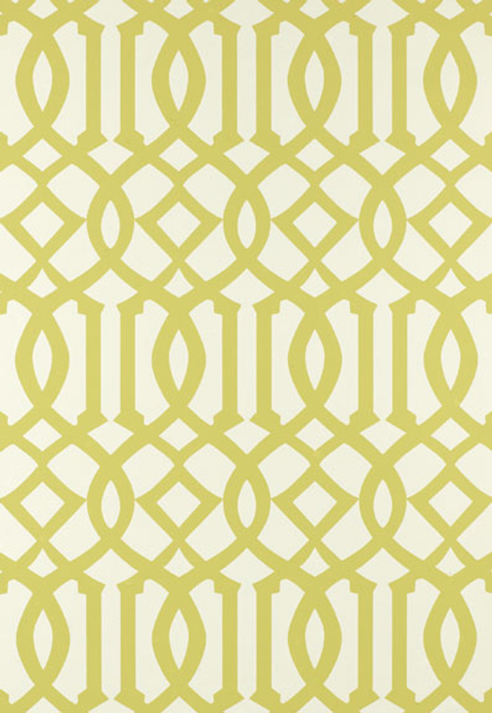 Schumacher Imperial Trellis Citrine Wallpaper 2707213