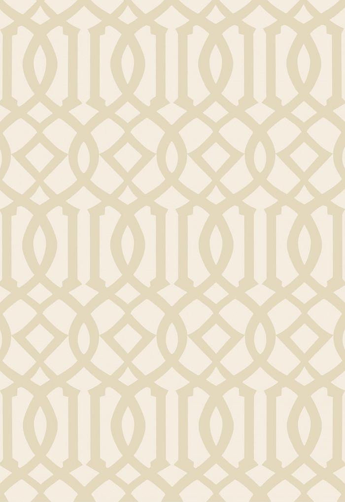 Schumacher Imperial Trellis II Sand/Ivory Wallpaper 5005802