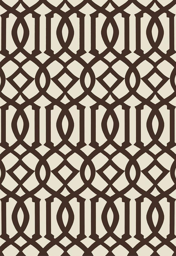 Schumacher Imperial Trellis II Java/Cream Wallpaper 5005803