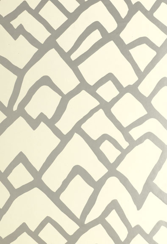 Schumacher Zimba Wallpaper Silver  5003300
