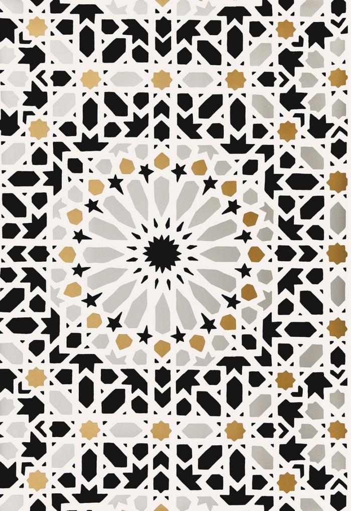 Schumacher Nasrid Palace Mosaic Wallpaper Mica 5005961