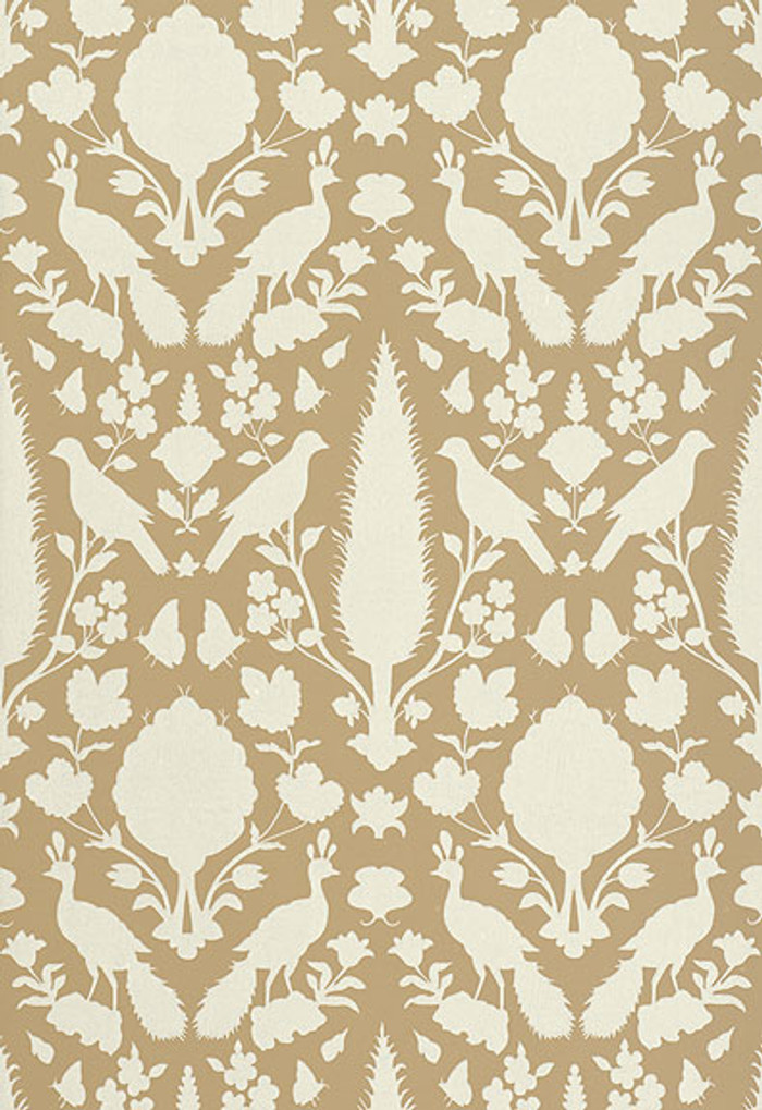 Schumacher Chenonceau Wallpaper Fawn 5004121 (Priced and Sold as 9 Yard Double Roll)