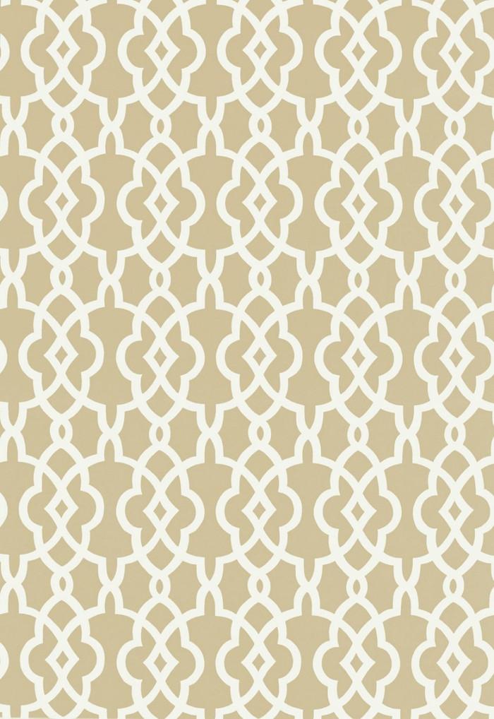 Schumacher Summer Palace Fret Wallpaper Sand 5005140