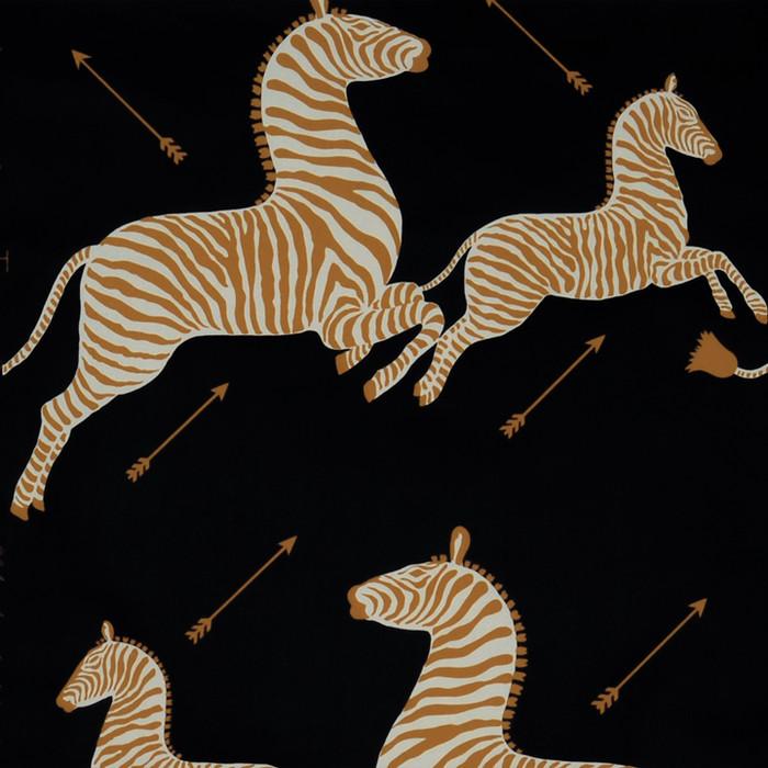 Scalamandre Zebras Wallpaper Black - 2 Roll Minimum Order