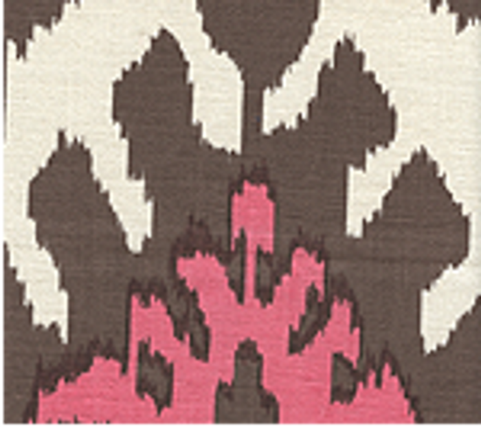Quadrille Kazak Brown Pink on Tint