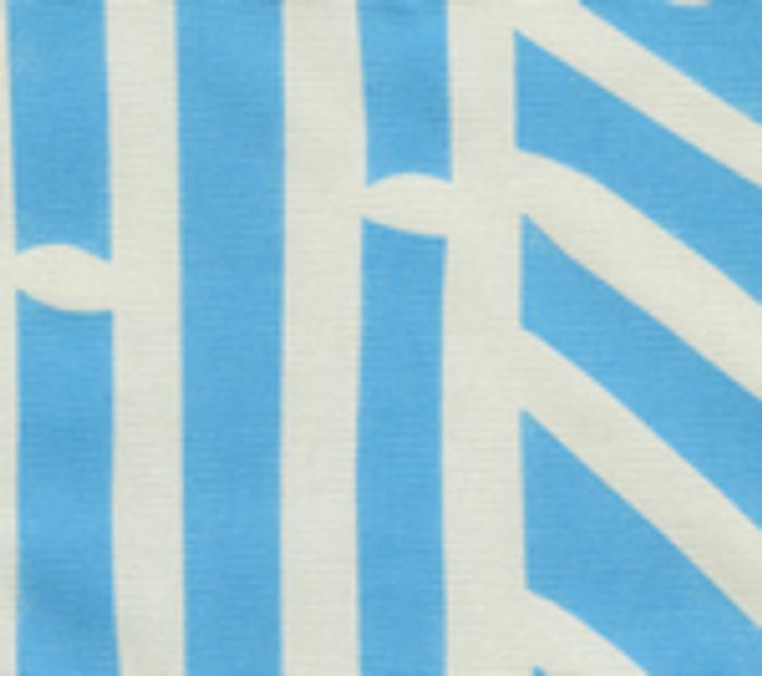 Quadrille Alan Campbell Candu Indoor/Outdoor Fabric Sky