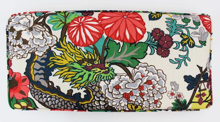 Chiang Mai Dragon - Custom Cushion by Lynn Chalk in Alabaster