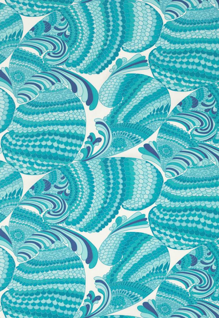 Trina Turk Pisces Print Pool Acrylic Fabric