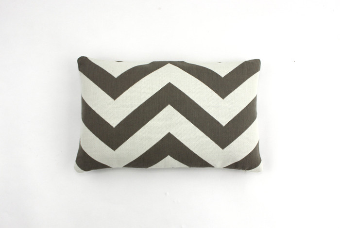 ON SALE 60% Off-Schumacher Antibes Chevron in Driftwood Indoor/Outdoor Pillow (Both Sides-12 X 18)