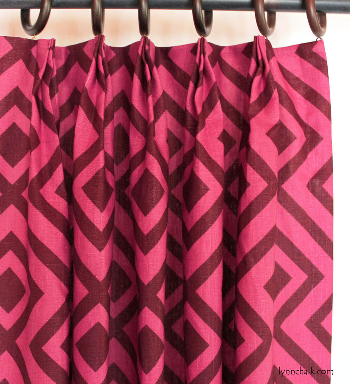 David Hicks Lee Jofa La Fiorentina Custom Drapes (shown in Wine/Magenta-comes in other colors)