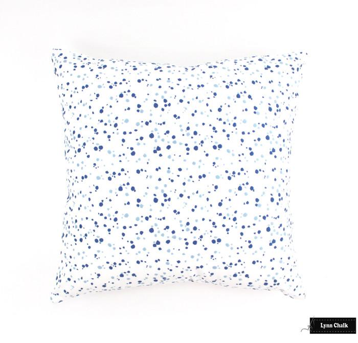 Schumacher Lulu DK Skittles Custom Pillows in Blueberry Sky (Both Sides) 2 Pillow Minimum Order