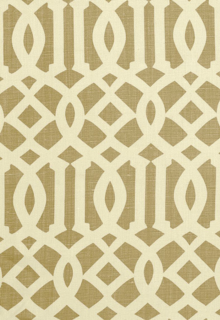 2643761 Schumacher Fabric Imperial Trellis Natural
