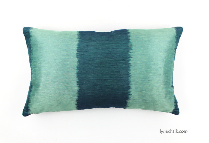Celerie Kemble for Schumacher Bagan in Peacock Custom Pillows (Both Sides - 14 X 24)  2 Pillow Minimum Order