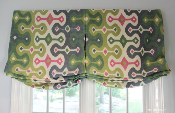 Custom Casual Shade by Lynn Chalk in Martyn Lawrence Bullard Darya Ikat Jewel