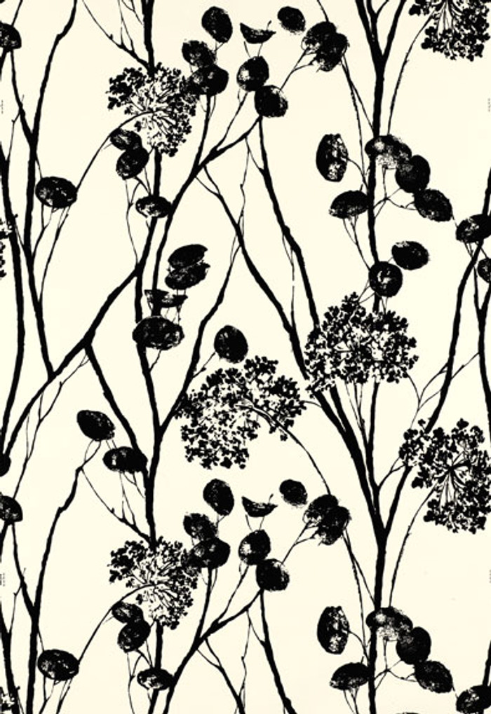 Schumacher Moonpennies Wallpaper in Black & Ivory