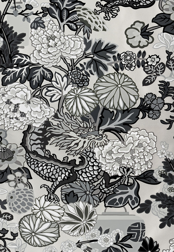 Schumacher Chiang Mai Dragon Smoke Wallpaper 5001066 - Priced by the Single Roll - Sold by the Triple Roll