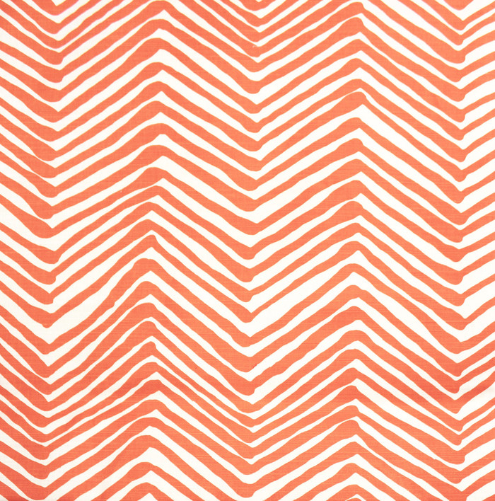 Quadrille Alan Campbell Zig Zag Orange on Tint
