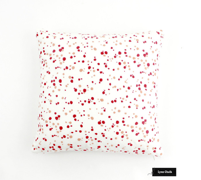 Schumacher Lulu DK Skittles Custom Pillows in Punch Coral (Both Sides) 2 Pillow Minimum Order