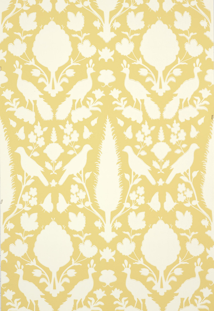Schumacher Chenonceau Wallpaper Buttercup  5004126 (Priced and Sold as 9 Yard Double Roll)
