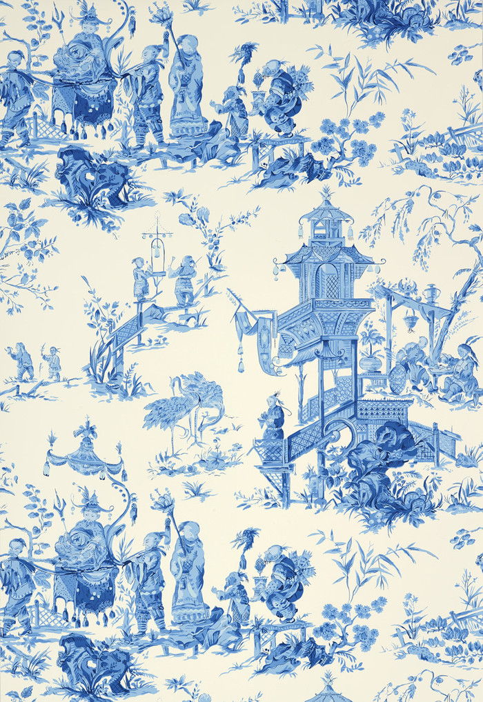 Schumacher Chinois in China Blue