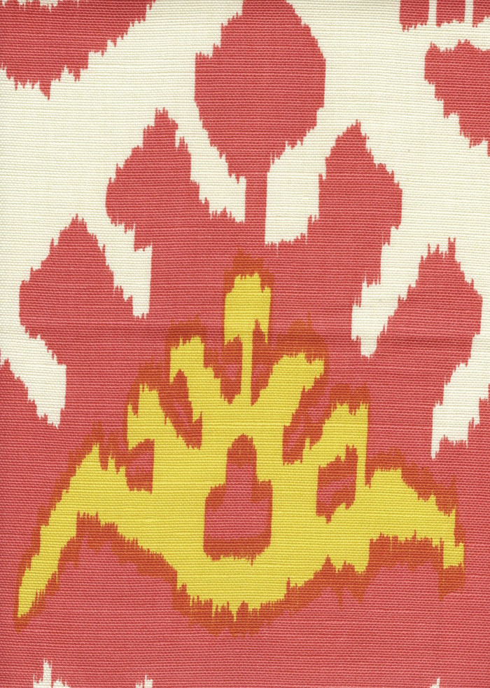 Quadrille Kazak Coral New Yellow on Tint on Suncloth