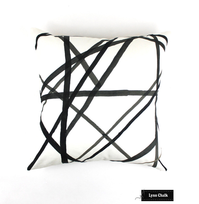 Kelly Wearstler for Lee Jofa/Groundworks Channels Custom Pillow in Ebony/Ivory (comes in 4 colors)