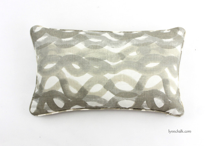 Christopher Farr Knife Edge Pillows in Fathom (shown in Smoke Lumbar 12 X 20)