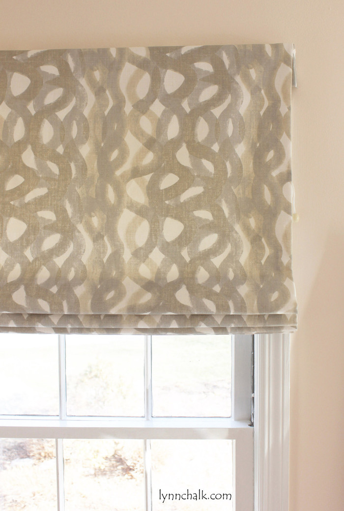 Christopher Farr Fathom Roman Shades (shown in Smoke - also comes in Sage, Lemon, Indigo and Hot Pink)