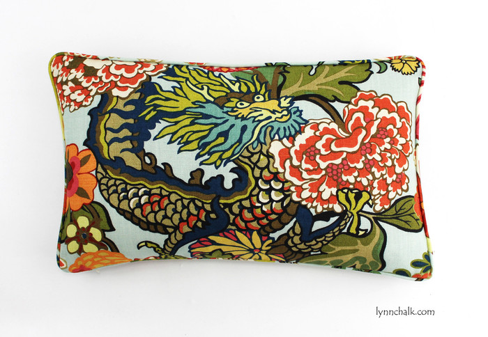 14 X 24 Pillow in Chiang Mai Dragon with Self Welting