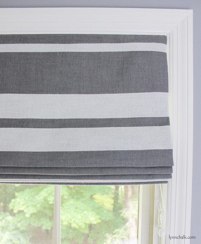Roman Shade in Little Big Stripe in Flint