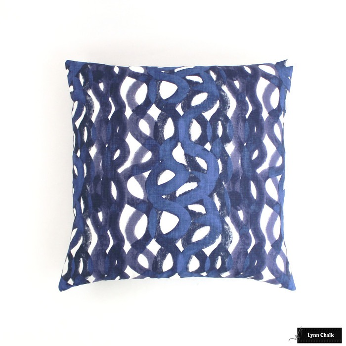 Pillow in Christopher Farr Fathom in Indigo (24 X 24)