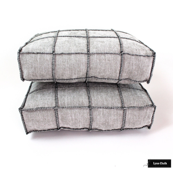 Pierre Frey Cube Cendre Black 7920002 Box Pillows 14 X 12 X 3 by Lynn Chalk l