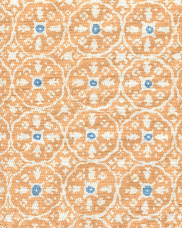 Apricot Bali Blue on White  149-75