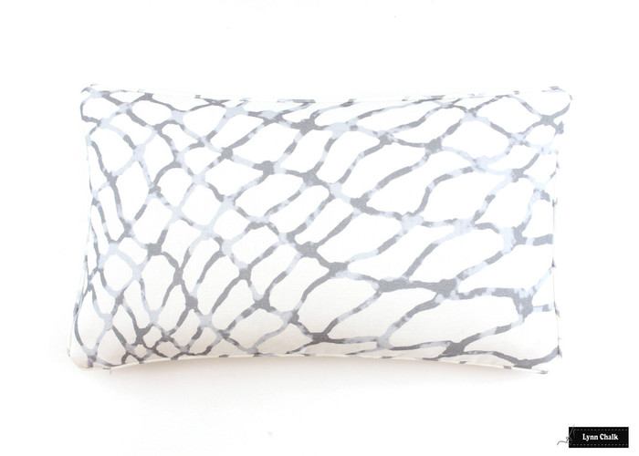 Pillow in Jeffrey Marks Waterpolo in Cloud