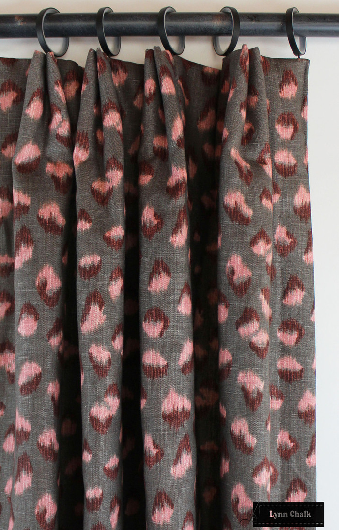 Kelly Wearstler Feline Drapes Rose Graphite
