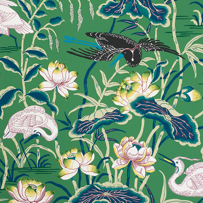 5008430 Lotus Garden Wallpaper in Jade