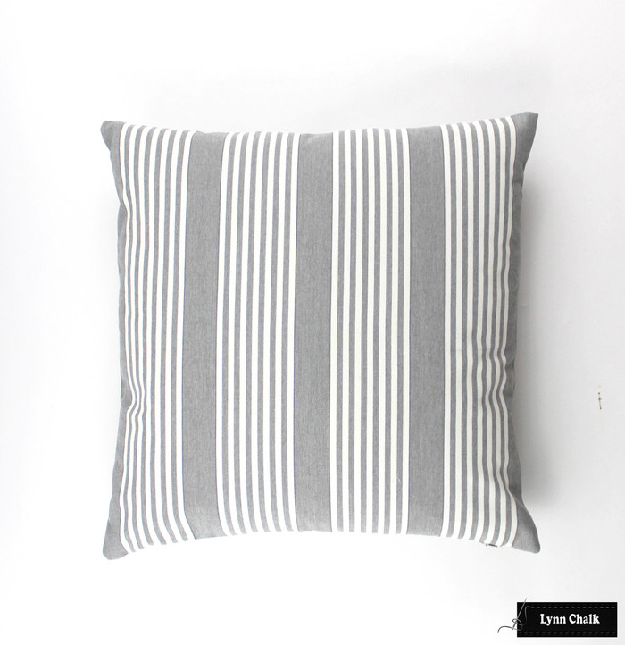 Perennials I Love Stripes in Platinum Pillow (20 X 20)