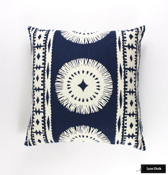 Pillow in Bora Bora Marine (22 X 22)