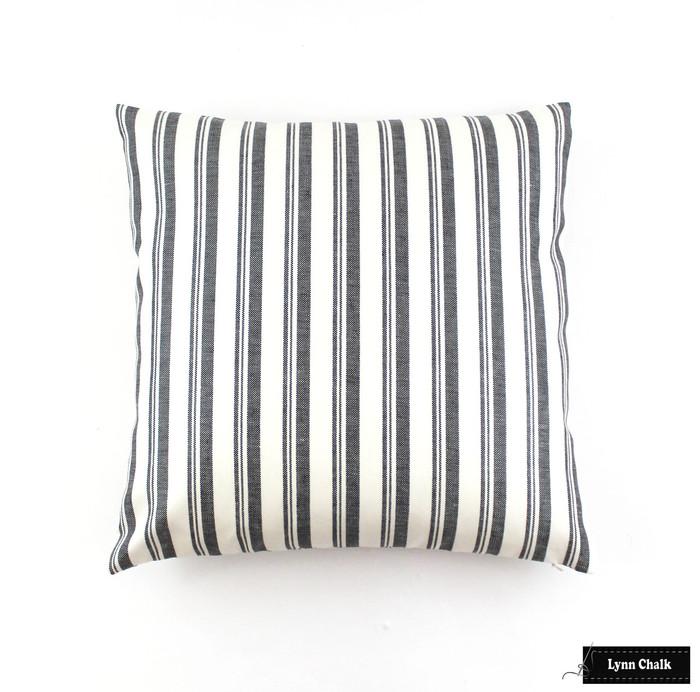 Miles Redd for Schumacher Capri Pillows in Black/White  (Comes in 6 colors) 2 Pillow Minimum Order