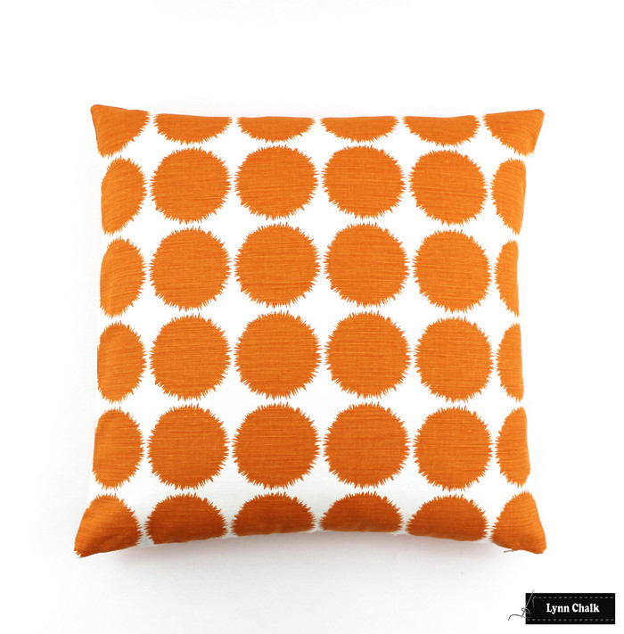 Schumacher Fuzz Pillow in Orange (22 X 22)
