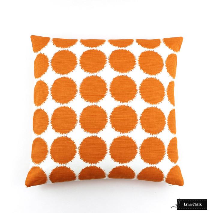 Schumacher Fuzz Pillow in Orange (22 X 22)