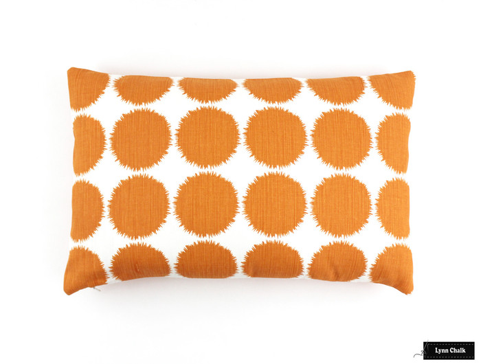 ON SALE 50% Off - Schumacher Fuzz 14 X 24 Pillow in Orange (Both Sides-Made To Order)