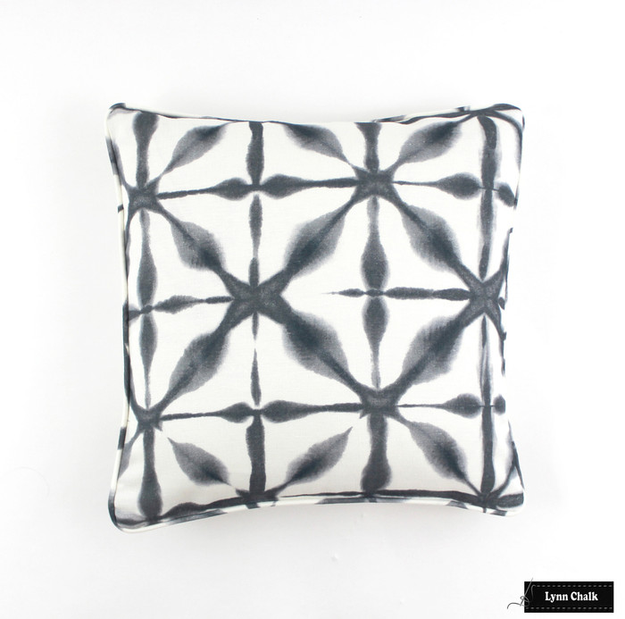Schumacher Andromeda Pillow (18 X 18) with self welting