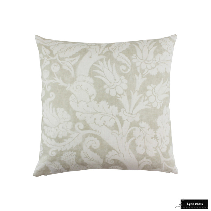 ON SALE 50% Off-Schumacher Mary McDonald Villa de Medici Greige Pillows (Both Sides-24 X 24)