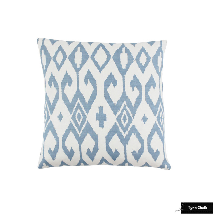Aqua II French Blue on White Pillow (16 X 16)